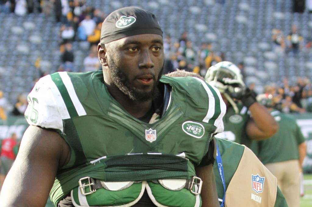 (10-13-13)  Muhammad Wilkerson after the New York Jets and Pittsburgh Steelers game.                Photo by Joseph E. Amaturo